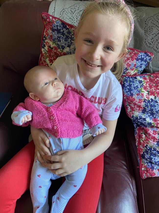 Eva and Hope Hook ,aged six and 10 weeks, from Sankey bridges: