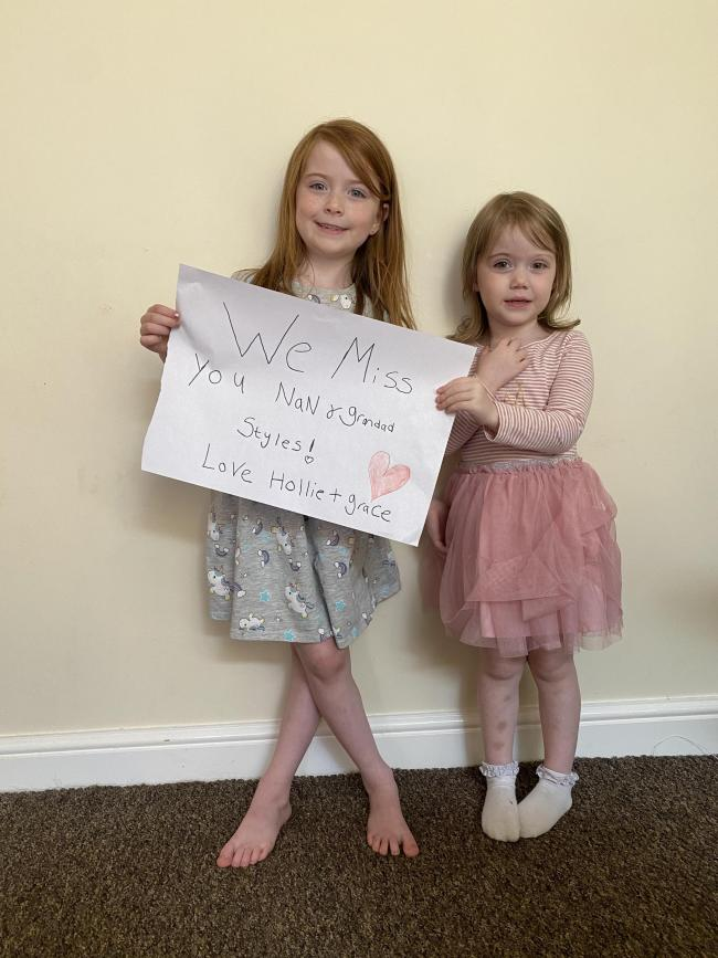 Hollie and Grace Styles, aged six and four, from Latchford: