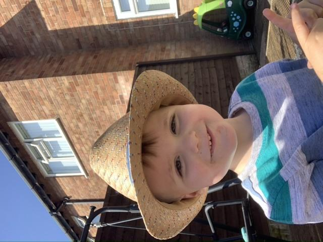 Billy Higginson, age two, from Orford: