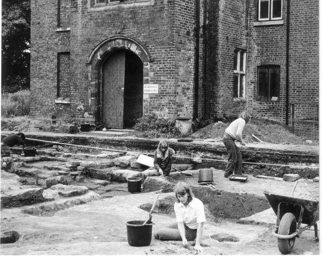 The dig in 1975 at Bewsey Old Hall