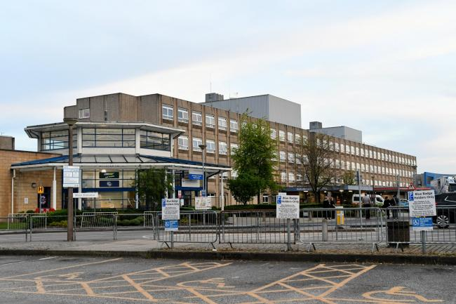 The number of coronavirus patients being cared for at Warrington Hospital