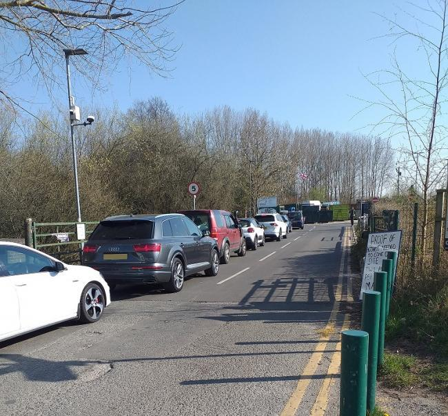 The recycling centres were closed in March following huge queues