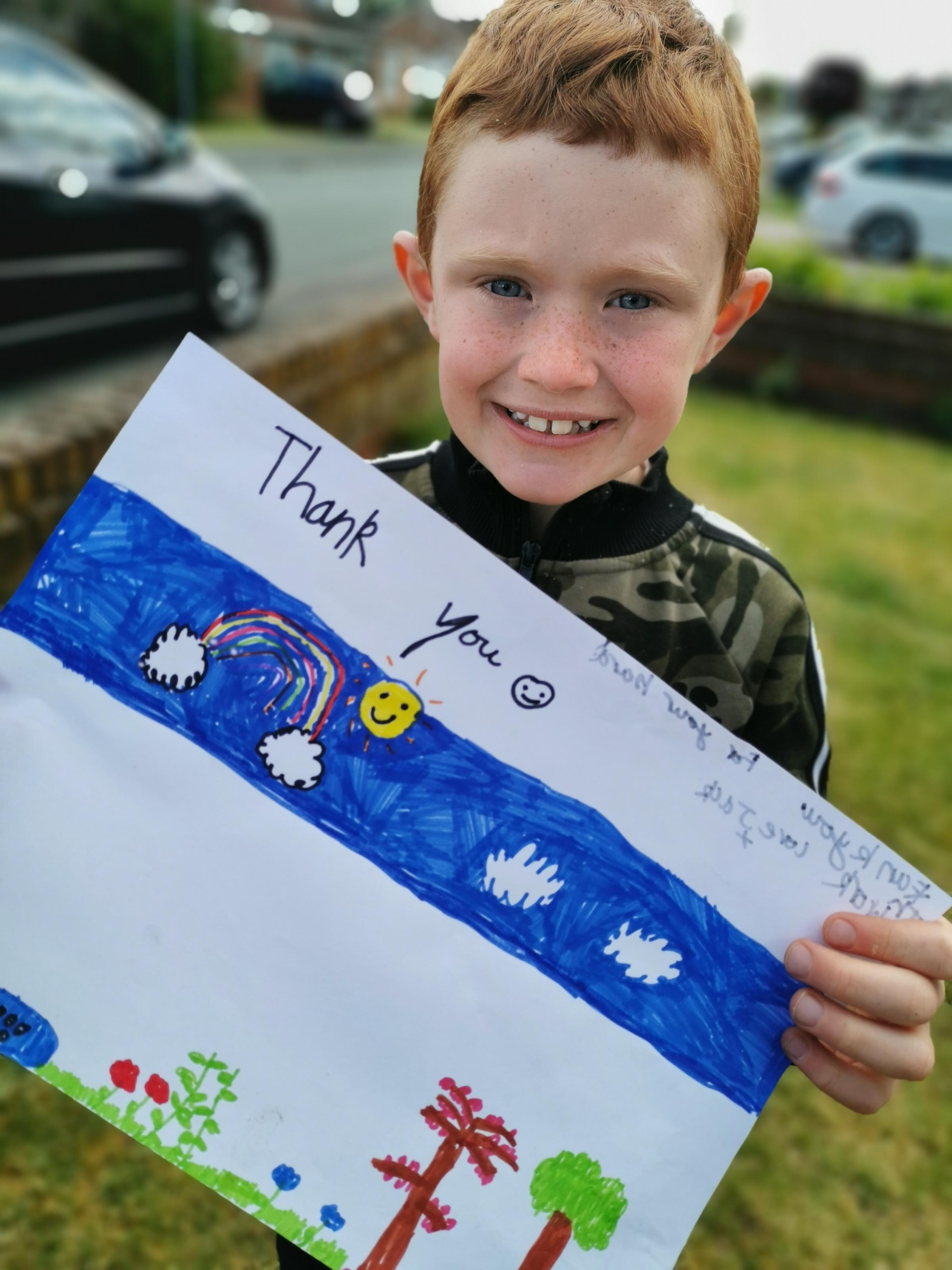 Warrington Guardian: Jason is our favourite postie. He does the rounds on Wroxham Road in Great Sankey. He always has a smile and a thumbs up for the children. My son made him a picture to say thanks for all of his hard work and gave it to him last week.