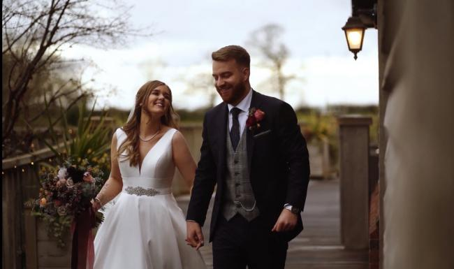We luckily managed to get married on March 14th. We got married at Sandhole Oak Barn in Congleton.   Rosie & Sam - from Paddington