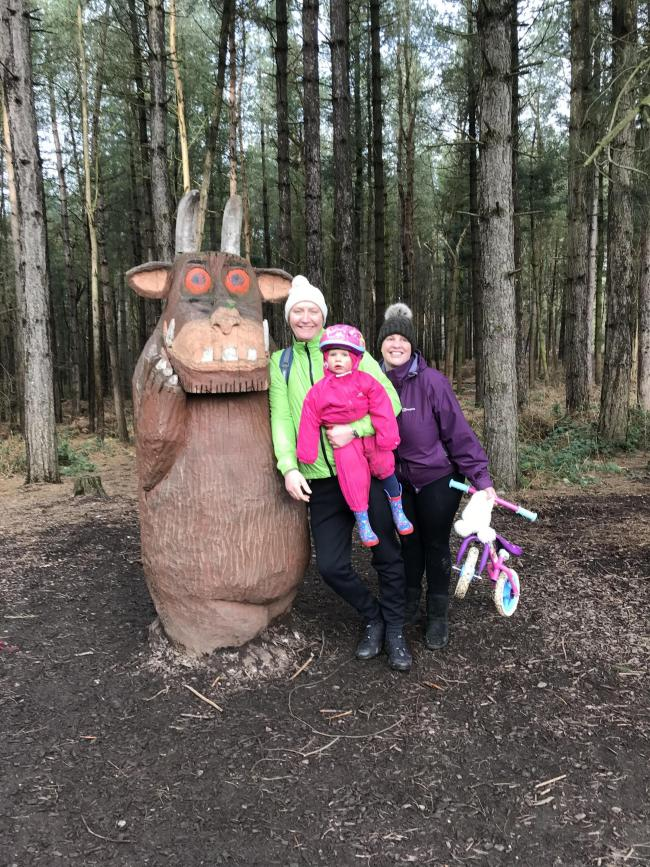 Went to gruffolo trail at delemere
