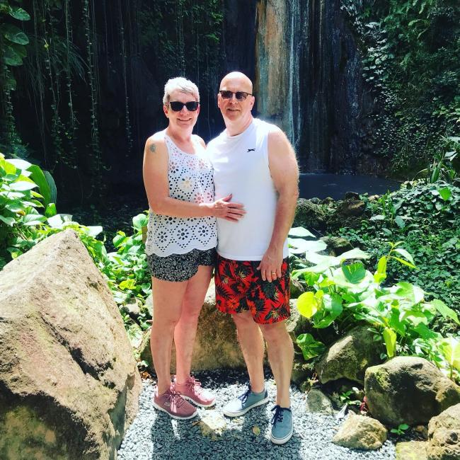 Our Caribbean cruise in February 2020, for our 25th wedding anniversary. Picture taken in St Lucia. Amazing holiday before lockdown.