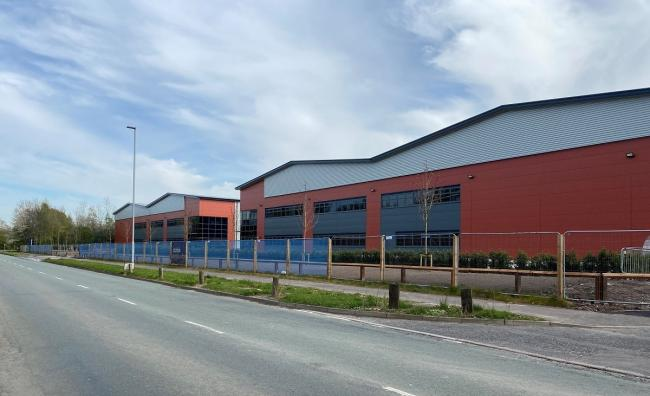 The new warehouses at Birchwood Park