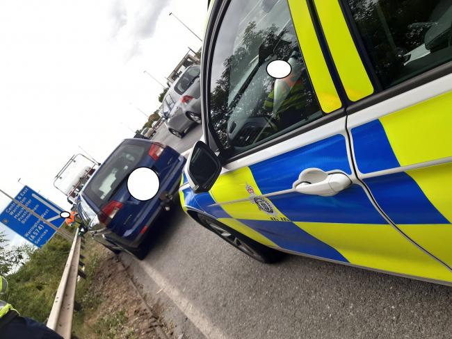 Police stopped the vehicle near to junction eight of the M62 at Burtonwood