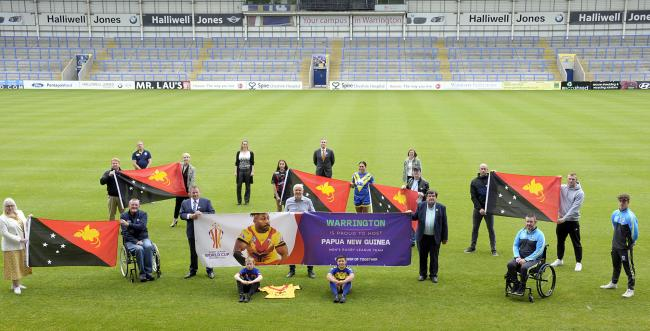 The launch at the Halliwell Jones Stadium at lunchtime on Wednesday