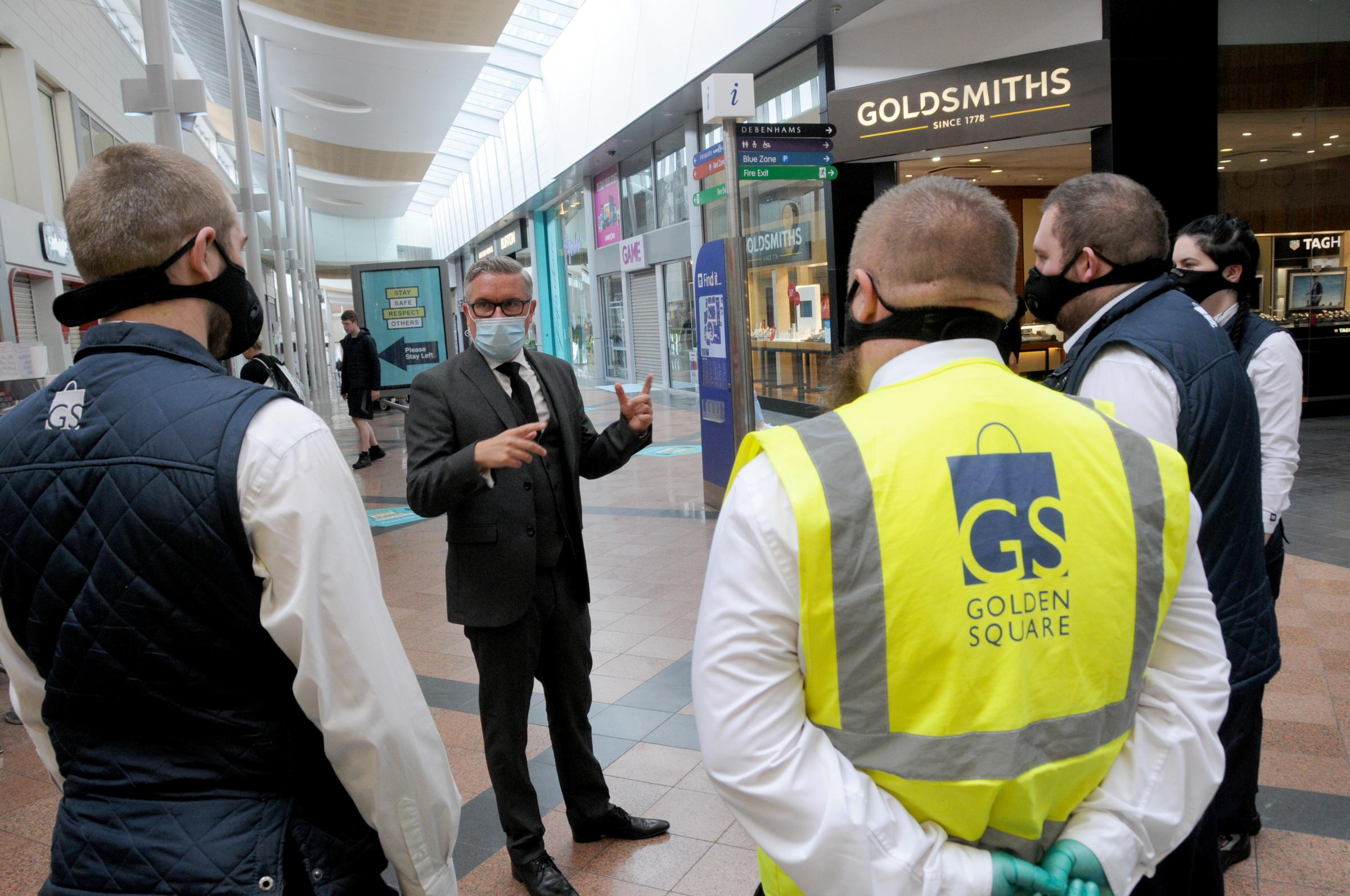 Ian briefing Golden Square staff