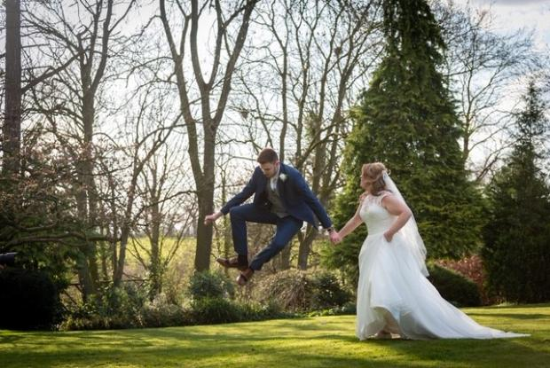 Warrington Guardian: Mark and Laura 'jumping for joy' - F11 Photography