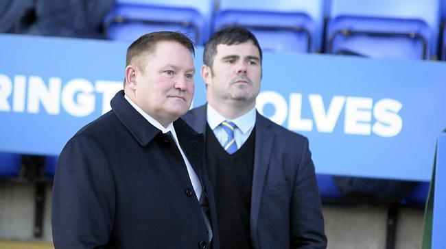 Difficult financial times to deal with for Warrington Wolves chairman Stuart Middleton, left, and chief executive Karl Fitzpatrick. Picture: Mike Boden