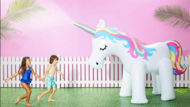 Warrington Guardian: This unicorn sprinkler looms above kids, but it's a good size for adults, too. Credit: Sun Squad