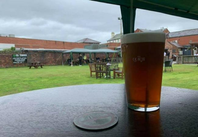 Row at Stockton Heath pub bowling green becoming socially-distant beer garden