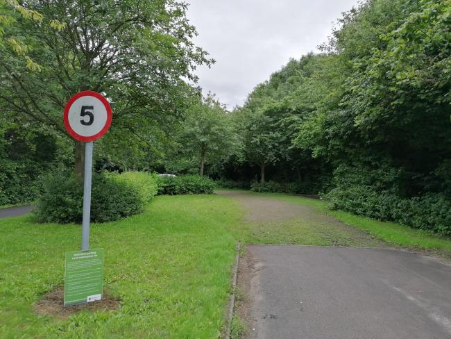 The Sankey Valley Park car park off North Park Brook Road in Callands