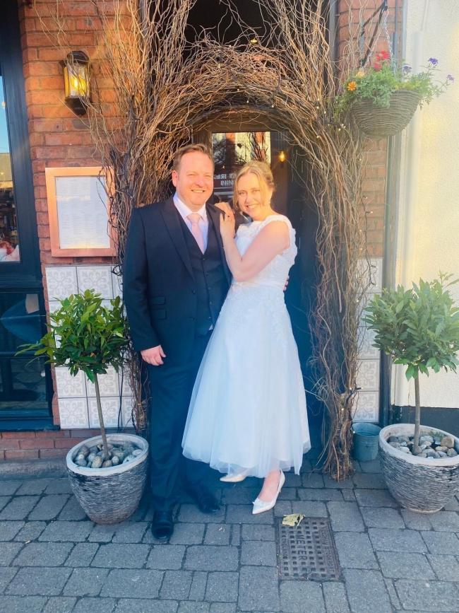 Sarah and Paul Duffy celebrate their wedding day