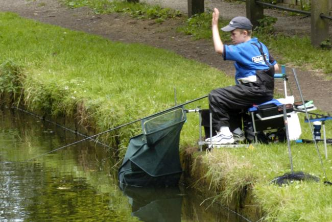 Fishing on the Bridgewater Canal