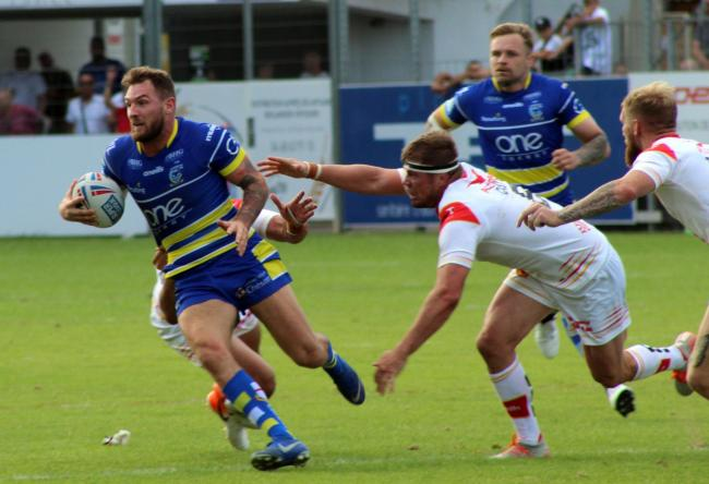 Daryl Clark looking for a way through against Catalans in Perpignan last August