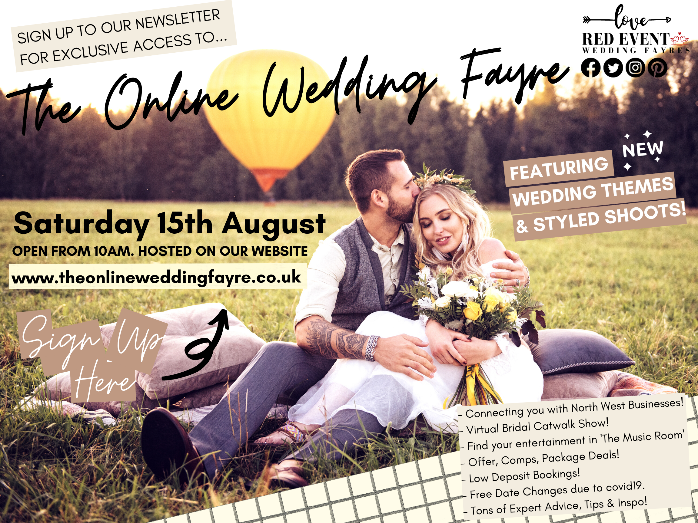 The North West's Online Virtual Wedding Fayre - Featuring Wedding Themes & Styled Shoots!