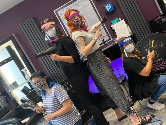 Some of the team at Kathryn Elizabeth Hair and Beauty