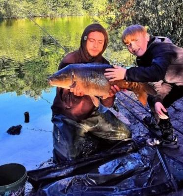 Matthew Sherratt marked his 25th birthday with carp catches at The Mount in Buckley