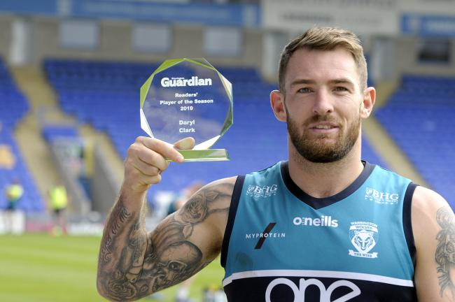 Daryl Clark won the Guardian readers' player of the year award for 2019. Picture by Mike Boden
