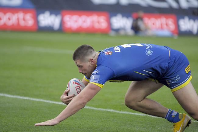 Tom Lineham's second try against Hull KR. Picture: Mike Boden