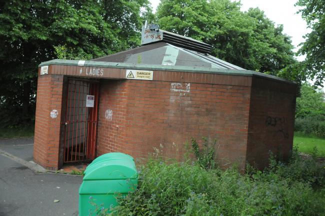 The toilet block at the Forge car park