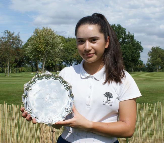 Siobhan Grayson with the Margaret Sangster Salver