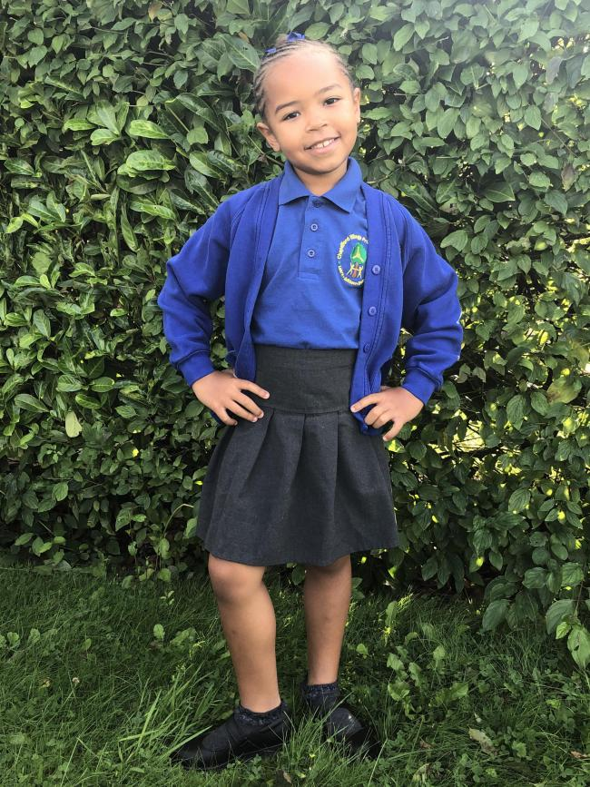 Mayama Jabateh is starting year two at Chapelford Village Primary School