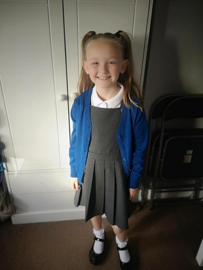 Evie Wrench going into year three at St Ann's CE Primary School