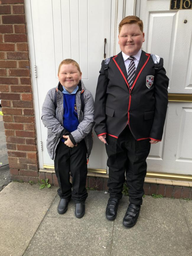 Max, year four at St Margaret's Primary School and James Williams-Thompson, starting year seven at Padgate Academy