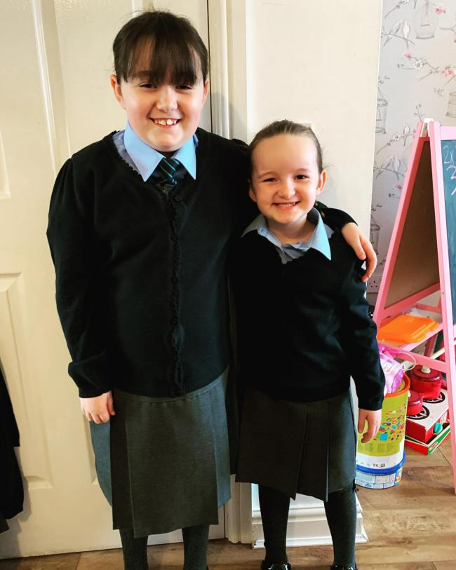 Poppy and Nellie, going into year four and year one at St Elphin's Primary School