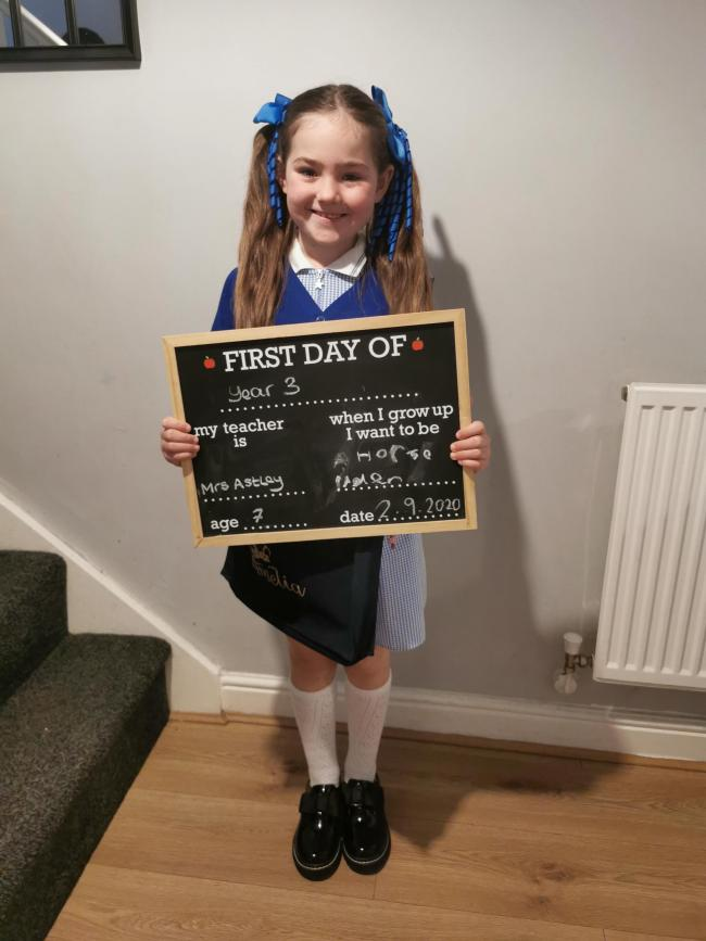 Amelia Fowler is going into year three at Chapleford Village Primary School