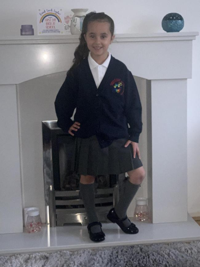 Leyla Baylam starting year two at Callands Primary School