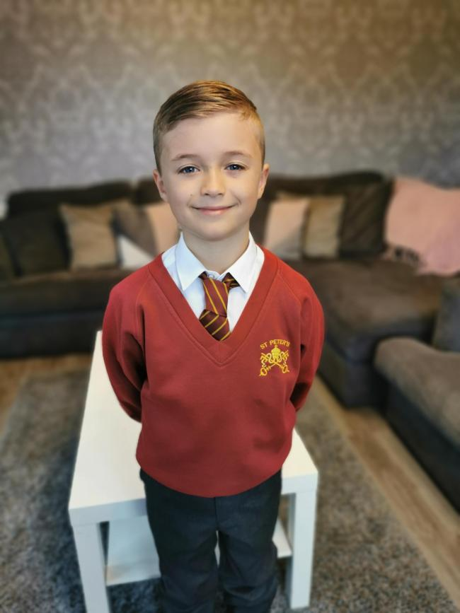 Finley James Hill from St Peter's Catholic Primary School is starting year four