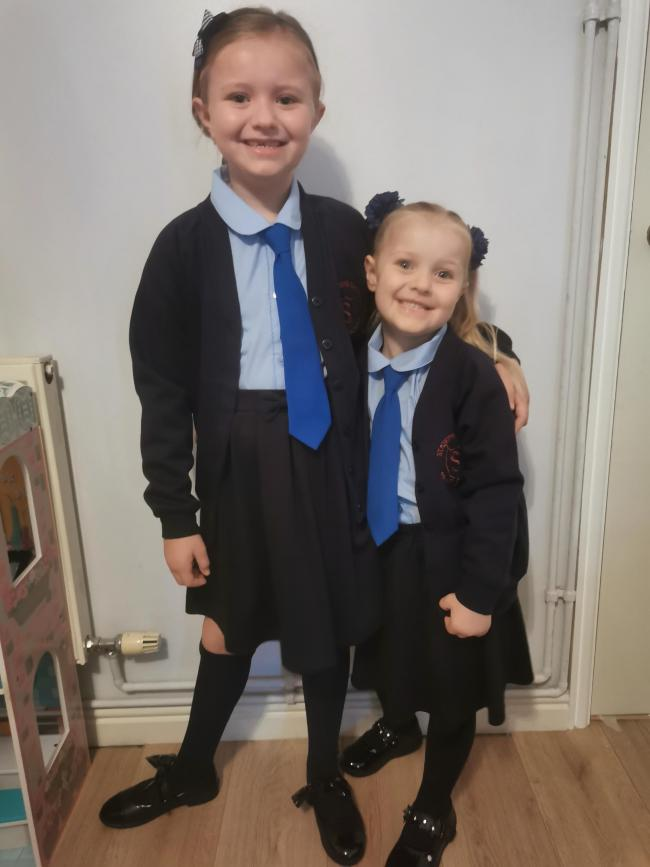 Alissa and Maisie Gaskell, starting year four and reception at St Stephen's Catholic Primary School