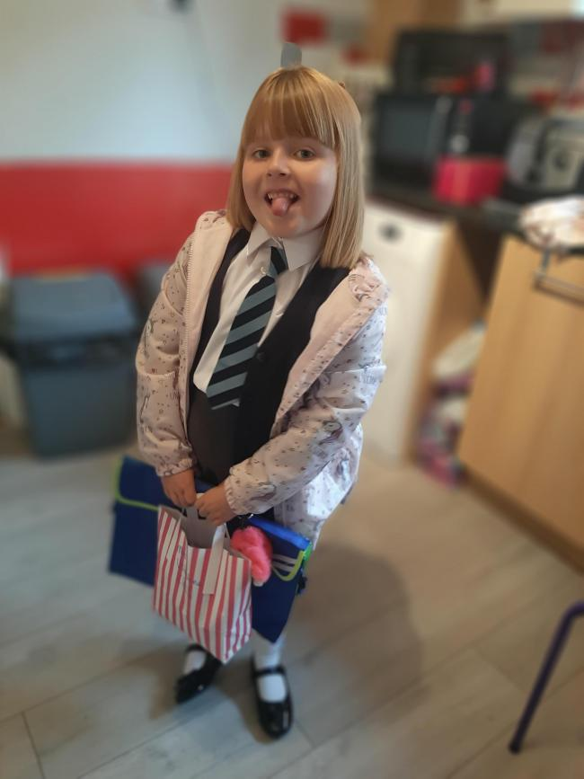 Mia Valentine is going into year two at Christ Church Primary School