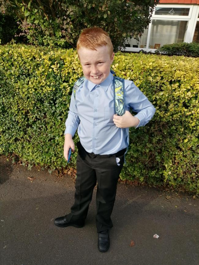 Finley Webb started year five at St Margaret's CE Primary School