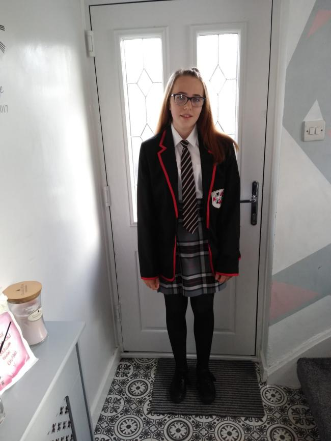 Liv Quirk starting year 10 at Padgate Academy