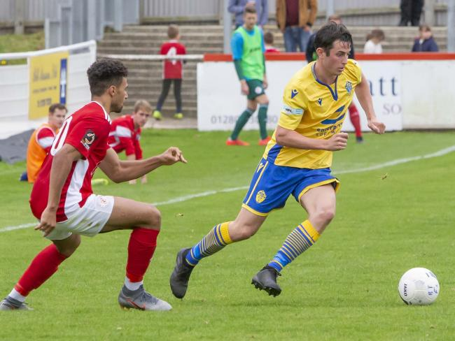 Ben Garrity in action for Warrington Town. Picture by John Hopkins