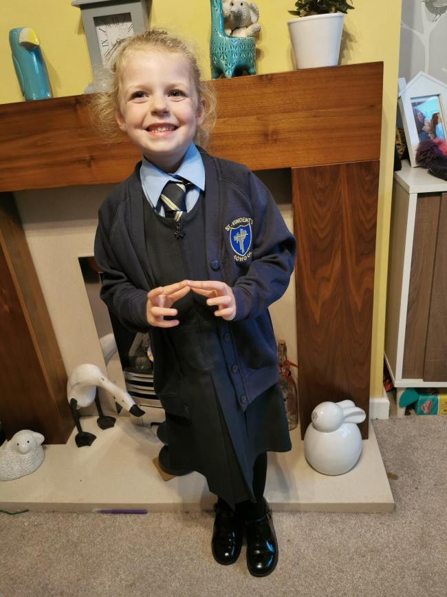 Leah Jowett first joining St Vincent's Catholic Primary School