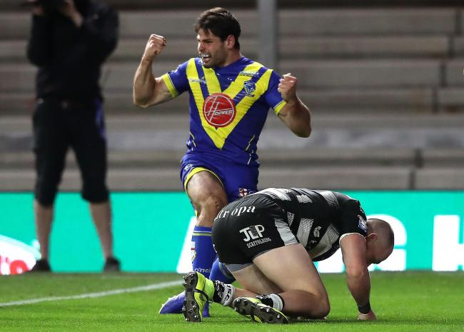 Jake Mamo celebrates scoring against Hull FC. Picture by PA Wire