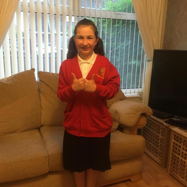 Olivia Micallef about to start year six at Green Lane School
