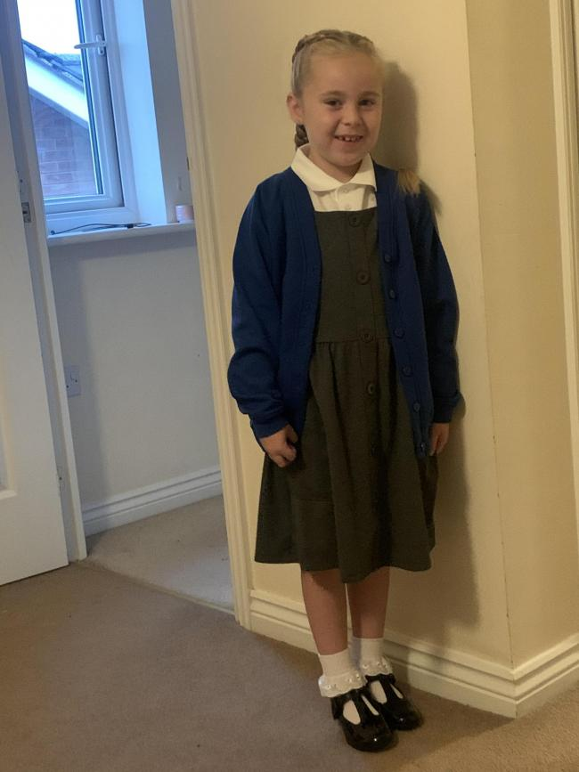 Gracie Bailey starting year two at Evelyn Street Primary School