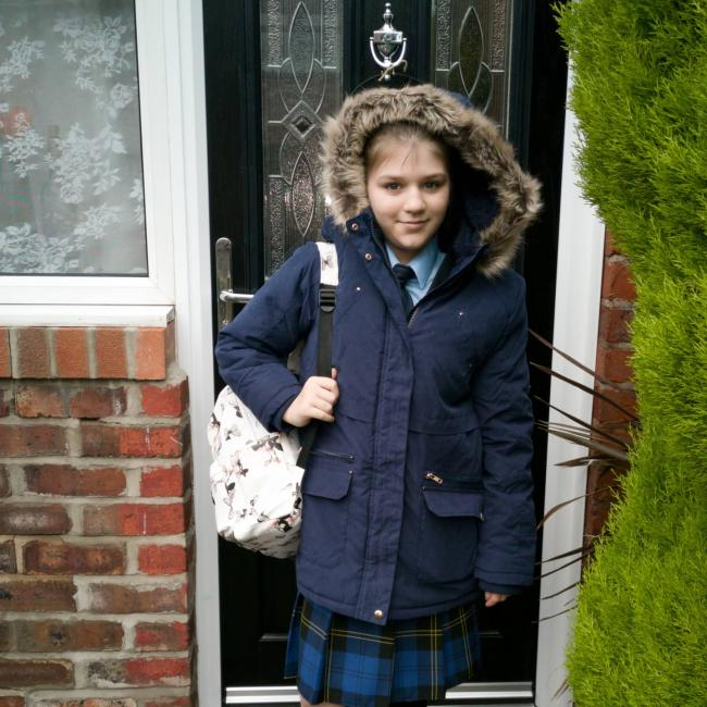 Summer-Olivia Tappenden starting year seven at  Sir Thomas Boteler CE High School