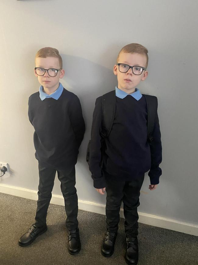 Billy and Charlie Jones going back to St Stephen's Primary School in year five