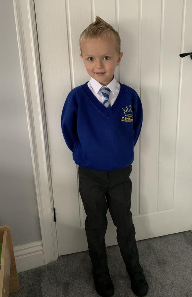 Archie O'Brien returning to St Oswald's RC Primary School in year one