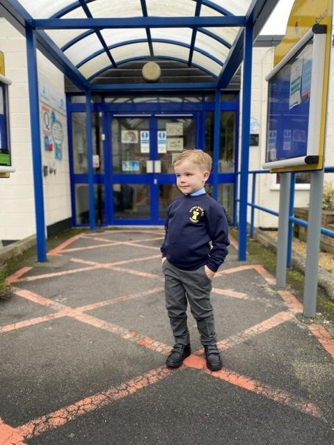 Jake Broome started reception at Sacred Heart Catholic Primary School