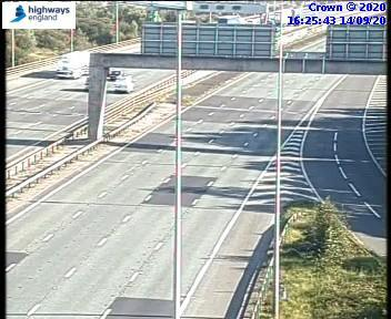 The M6 has been closed northbound after a crash on the Thelwall Viaduct